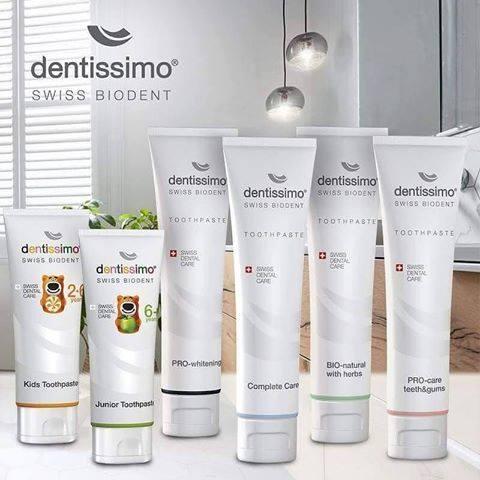 Dentissimo – lyderiaujanti Šveicariška kasdienė dantų pasta pasaulyje!